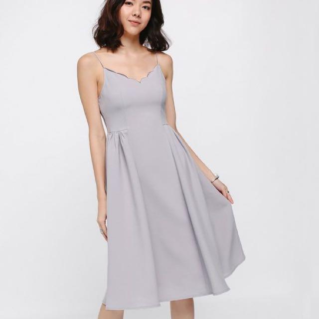 Love Bonito Sholly Scallop Midi Dress 57b7f240cfd