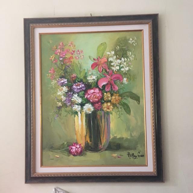 Lukisan Vas Bunga Hiasan Rumah