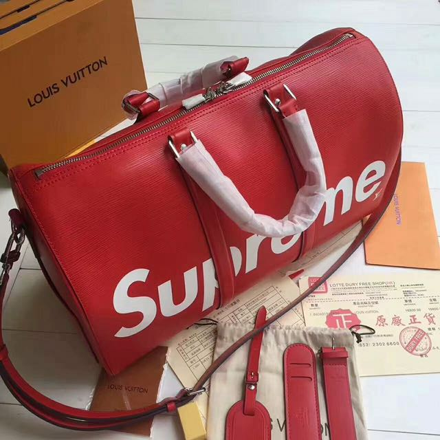 LV x Supreme Bag