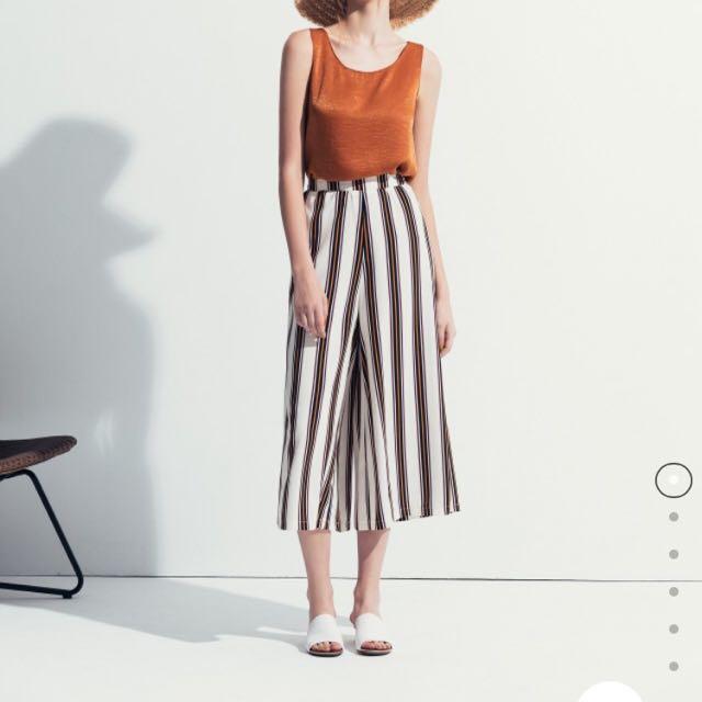 ✨全新✨Meier Q條紋寬褲