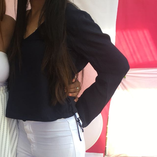 Navy Blue Glassons Top