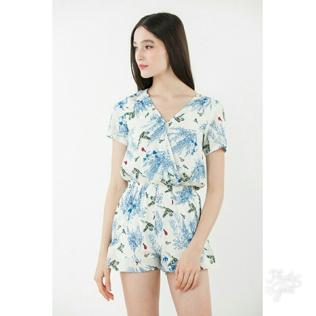 708862d2ebe6 Ninth Collective Ravenna Floral Romper In White, Women's Fashion ...