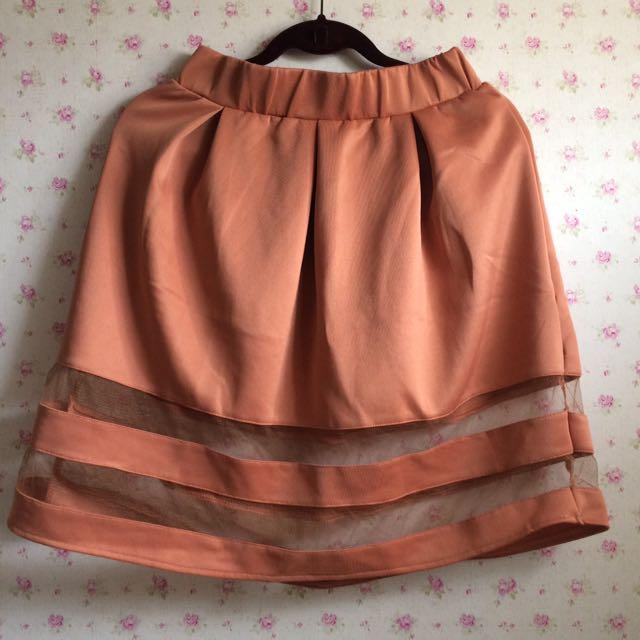Orange Brown Skirt