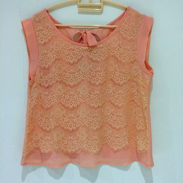 Orange Chiffon Lace