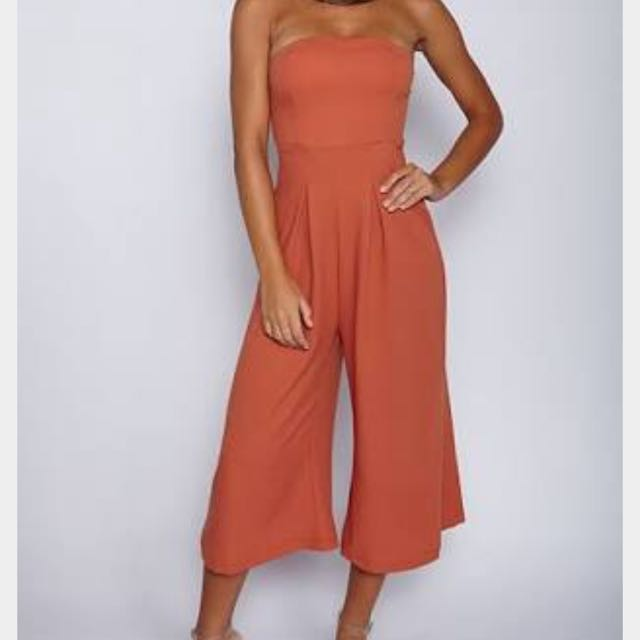 Orange Formal Jumpsuit