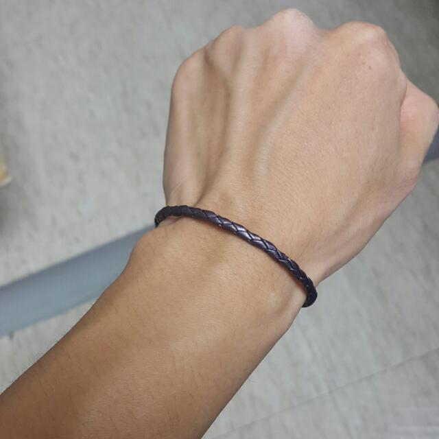 Pandora 紫色單圈皮繩(s號)