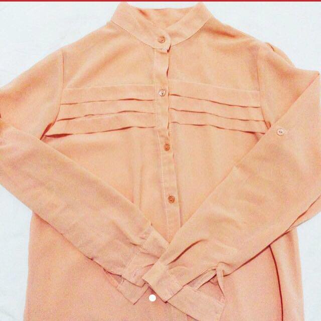 Peach Sheer Top