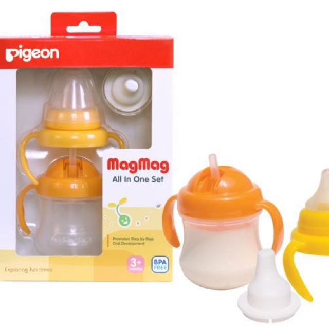 Pigeon Magmag All In One Set Sippy Cup, Babies & Kids, Nursing & Feeding on Carousell