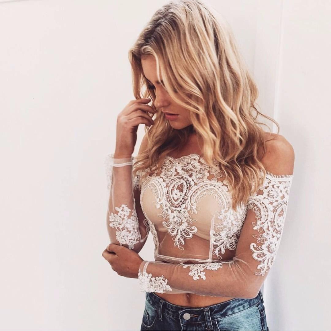 68617b85ee0c3 pre order black white lace crochet boho bohemian off shoulder crop ...