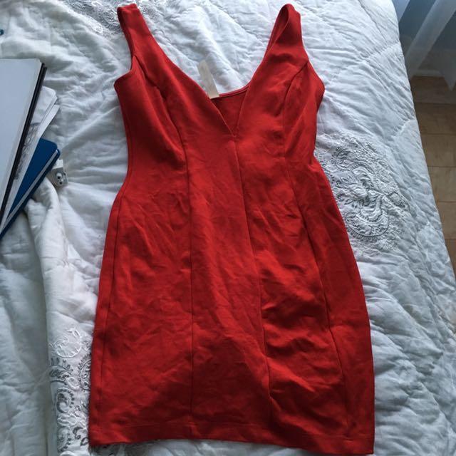 Red M Bodycon Mini Dress