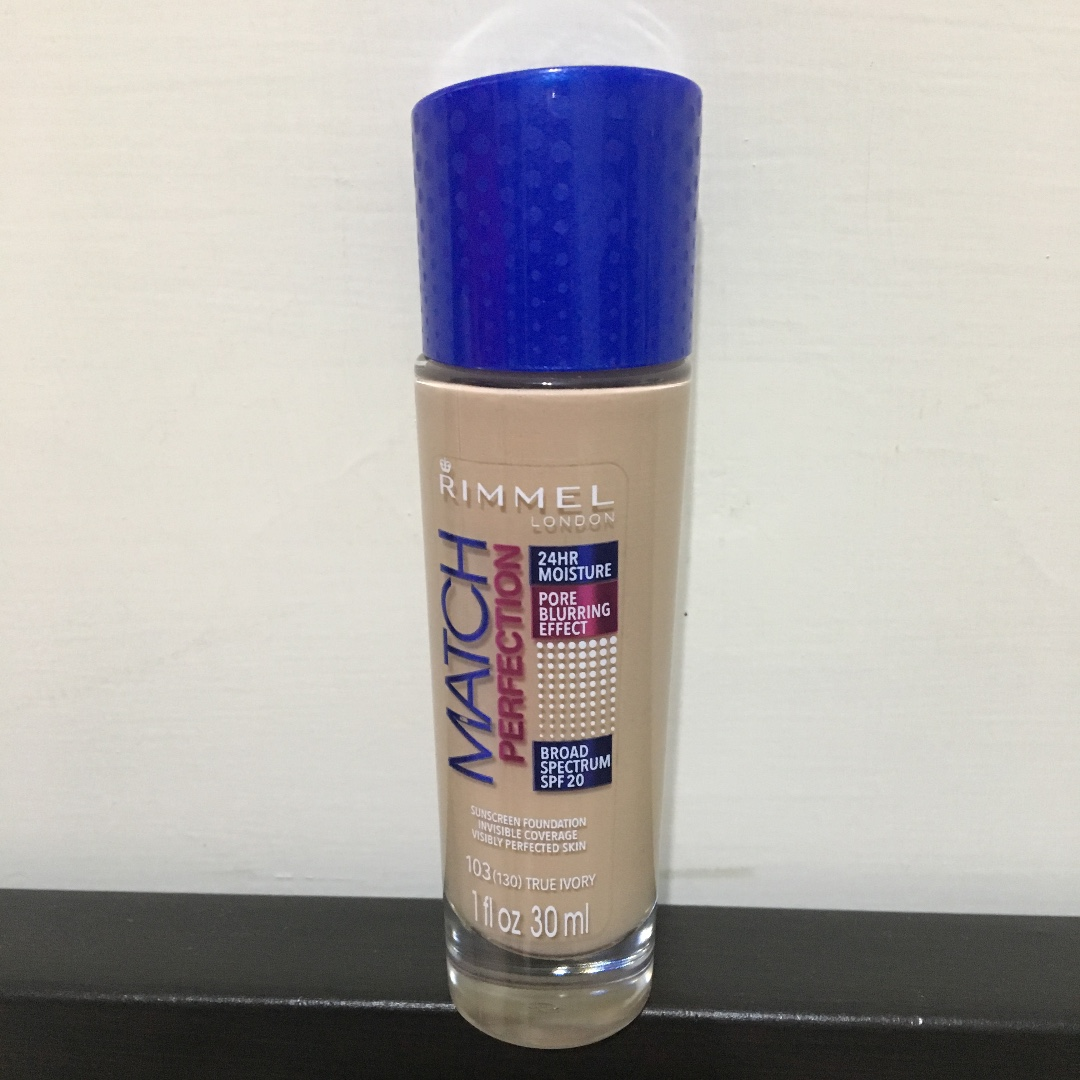 >>RIMMEL match perfection foundation<<rimmel藍蓋粉底液