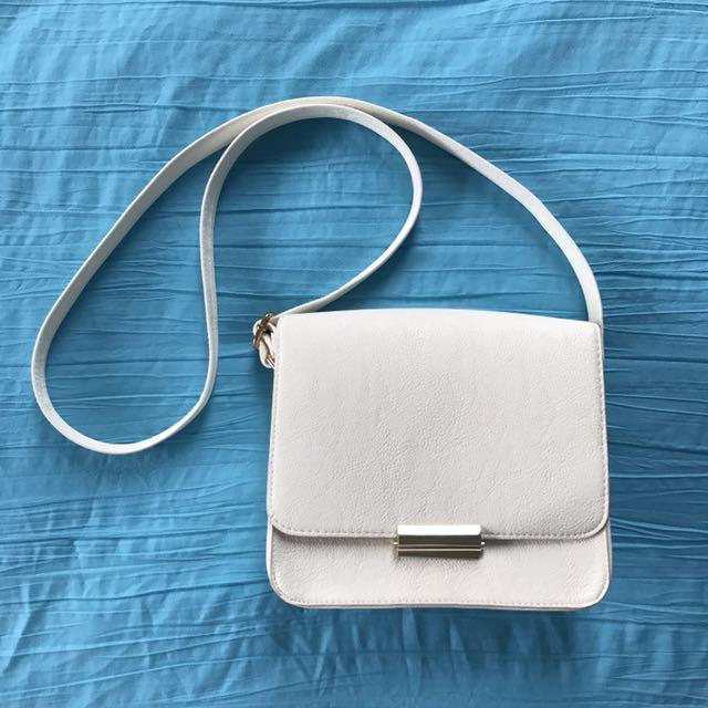 Ruby & Kit White Shoulder Bag