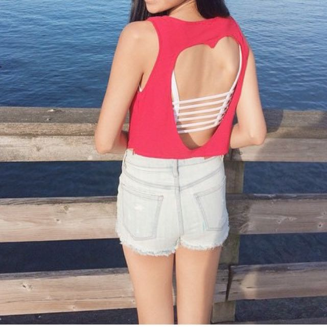 Sabo Skirt Heart Cutout Top