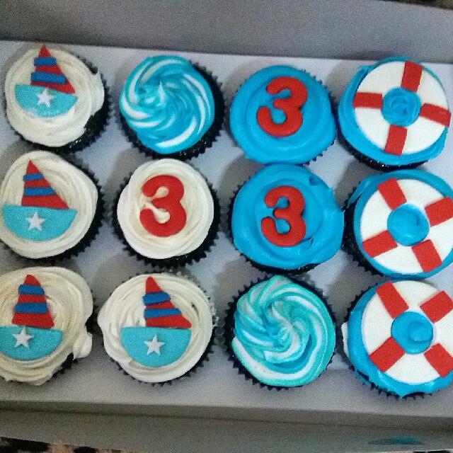 Sailor-Themed Cupcakes