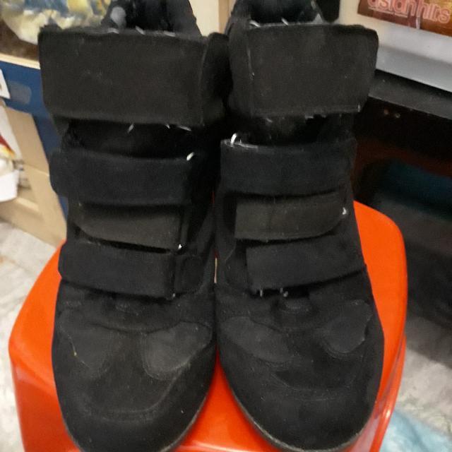 Reprice • Sepatu Wedges Hitam Gosh Uk 38 7a9f992572
