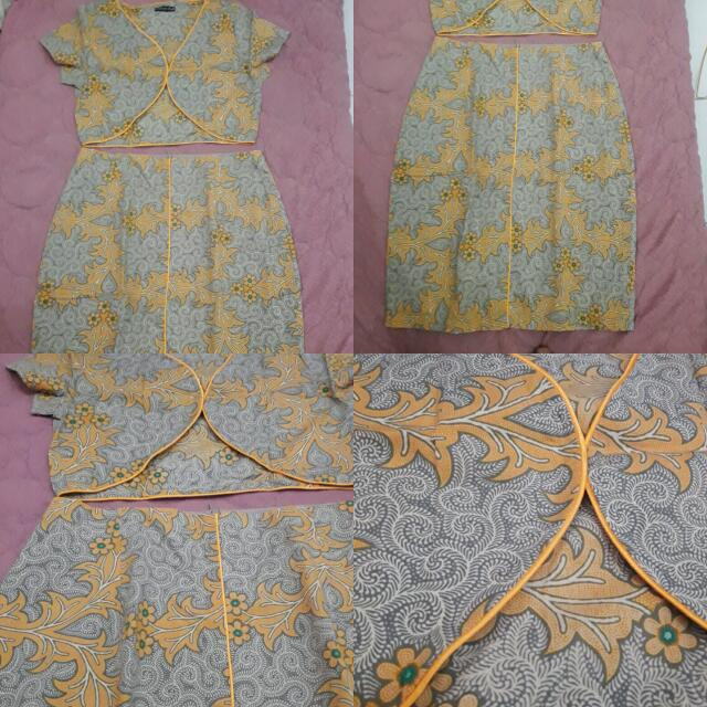 Set Batik Rok Dan Rompi