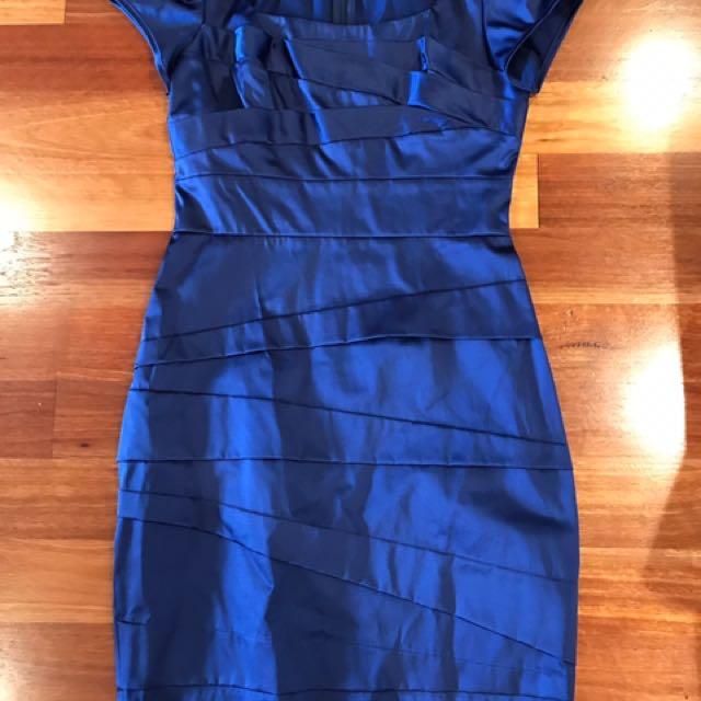 Sheike Size 10 Dress. Sheike 10 Dress. Blue Dress. Evening/day Wear Dress