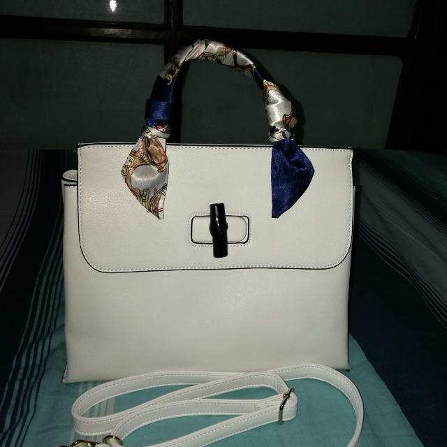 Shoulder And Handbag White Bag