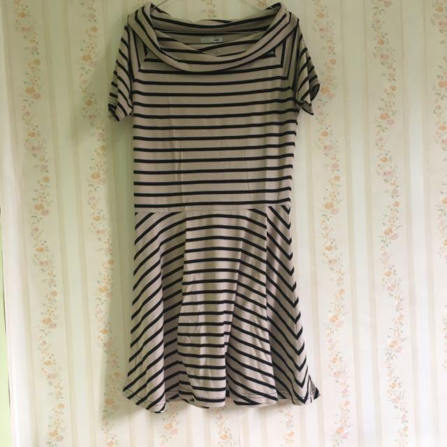 Strip dress merk philter