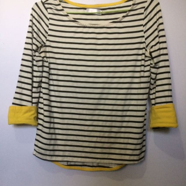 Striped Top With Yellow Accent