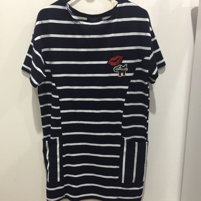 Strips Comfy Dress