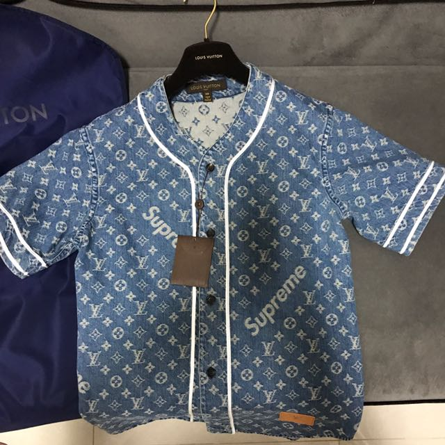 30532e0c5218 Supreme X Louis Vuitton Baseball Shirt XS