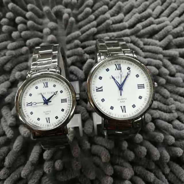 SWISS TIME COUPLE WATCH
