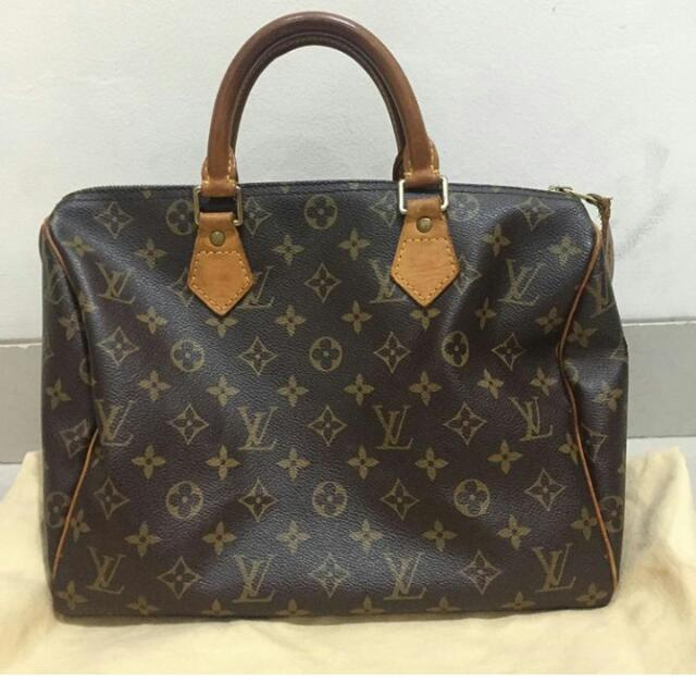 Tas Louis Vuitton Speedy 25 Oeiginal Bag Lv Authentic Second Preloved Bekas  Branded 7f00a74421