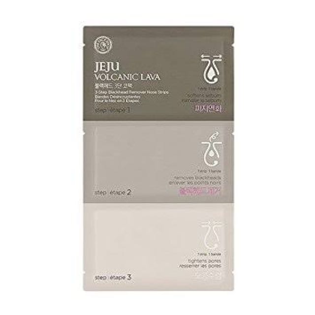 THE FACE SHOP JEJU VOLCANIC LAVA BLACK HEADS REMOVER