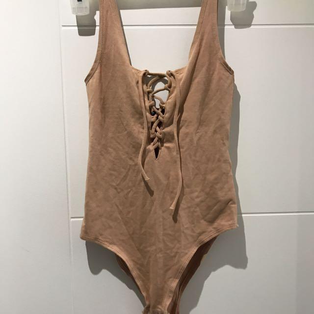 Topshop Nude Bodysuit