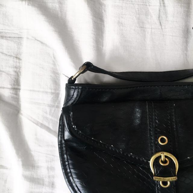 Vintage Nine West Black Cross-body Bag