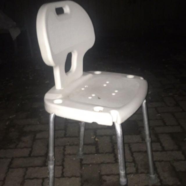 white plastic high chair