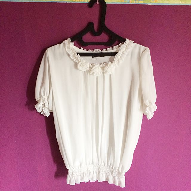 White Rose Top
