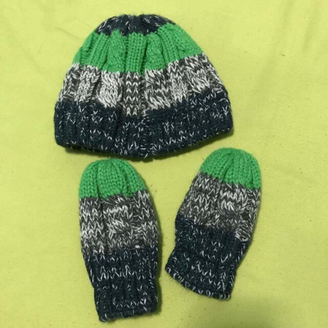 Winter Bonnet With Mittens