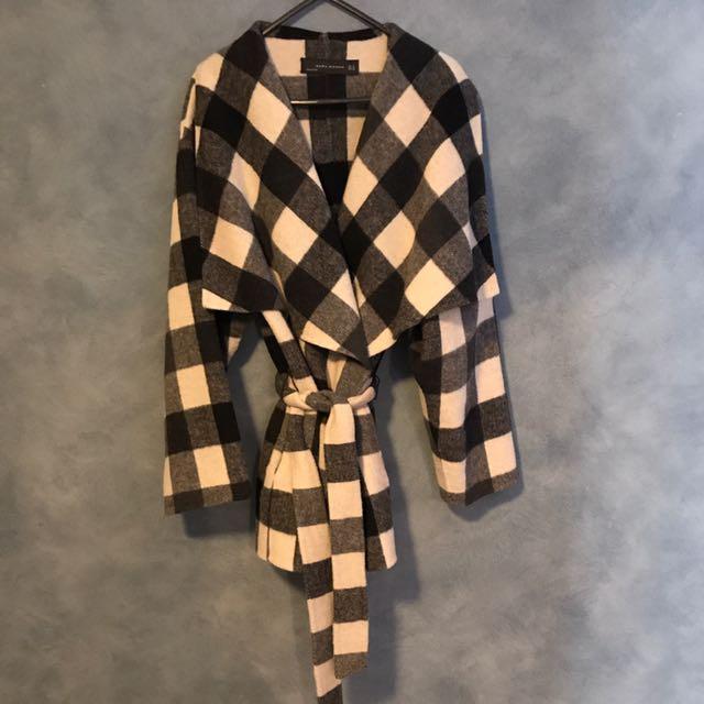 Zara Woman Checkered Coat