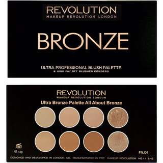 ♠️ READY STOCK ♠️ Makeup Revolution Bronze Palette - All About Bronze