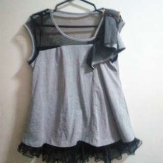 Gray Funky Blouse