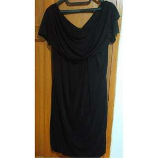 Short-sleeved Dress (Black)
