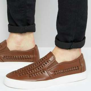 ASOS Slip On With Woven Details