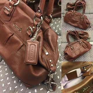 Authentic Coach Leather Hand Bag