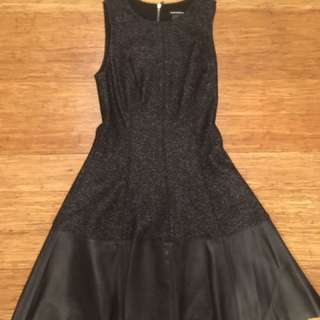 Club Monaco Dress With Genuine Leather Accents