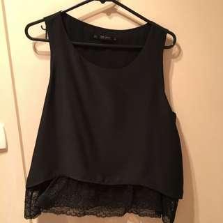 Zara Black Top - Size M