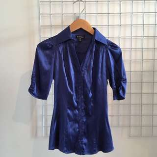 Le Chateau Satin Shirt