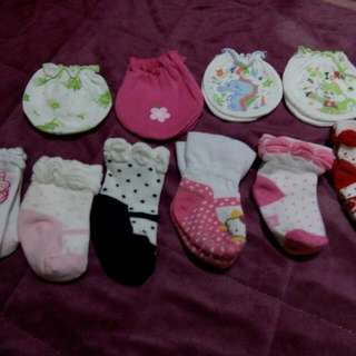 infant socks and mittens