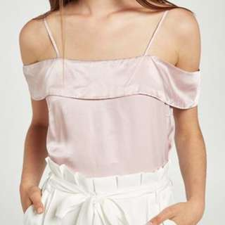 Off-shoulder Lilac Top