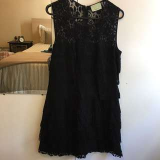 REVIEW Black Lace Dress Size 10