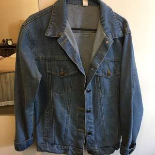 Denim Jacket Oversize Boyfriend S-M