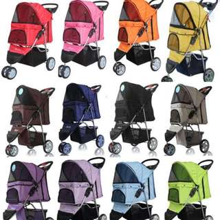 [In Stock] Foldable Pet Stroller 3 Wheel Pet Prams Washable Pet Carrier Dog Prams Dog Strollers Cat Prams Cat Strollers Light Weight Pet Trolley Pet Cage Pet Strollers