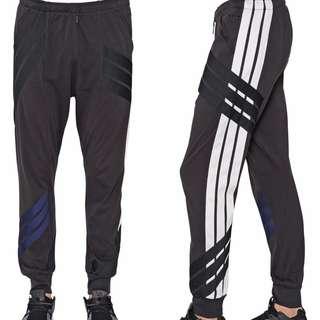 Size S, Y-3 YOHJI YAMAMOTO ADIDAS Black Multi stripe cotton jogging sweatpants