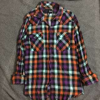 Hurley Button Down Checkered Longsleeves